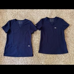 Navy blue figs scrubs